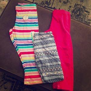 Bundle of leggings! 2 capri & 1 biker short